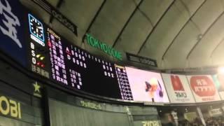 東京ドームで行われた「のどごし夢のドリームプロ野球」での亀梨和也vs...