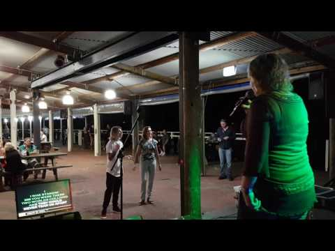 Karaoke in the boat shed by the Lake at the Beachcomber Hotel