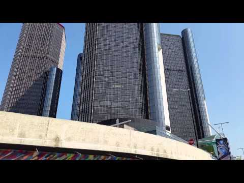 Detroit Riverwalk GM world headquarters Renaissance Ctr. Pt. 1