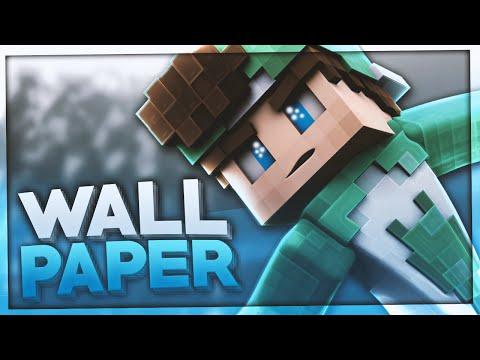 Minecraft WALLPAPER Erstellen TUTORIAL | How To Make A Minecraft Wallpaper | BaumBlau