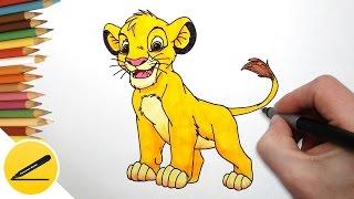 Король Лев - Как Нарисовать Львенка Симбу (Король Лев)(Как рисовать Симбу. В этом видео я показываю как нарисовать львенка Симбу из мультфильма