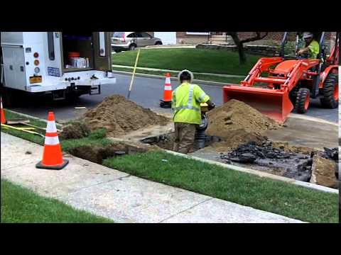 The Installation of the Gas Line