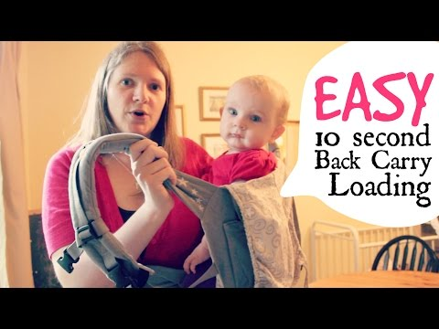 How to Easily Load a ErgoBaby Back Carry