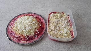 Селедка под шубой - диетическая вариация Новогоднего рецепта без майонеза и без картошки