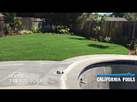 California Pools - Irvine   Before and After Swimming Pools