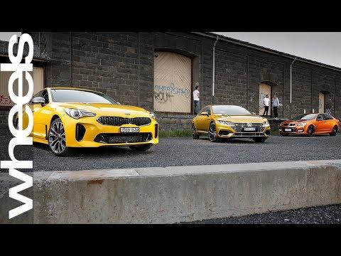 Volkswagen Arteon vs Kia Stinger vs Commodore SS-V Review | Wheels Australia