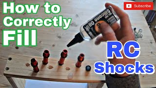 How To Properly Fİll RC Shocks With Oil - The Correct Way - RC Suspension