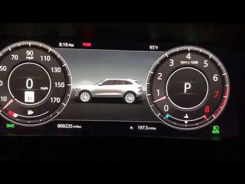 2019 Jaguar F-PACE Digital Dash Tour