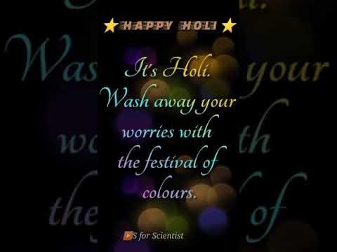 Happy Holi 2021 | Holi whatsApp status | Holi status wishes 2021 | Happy Holi status |#shorts