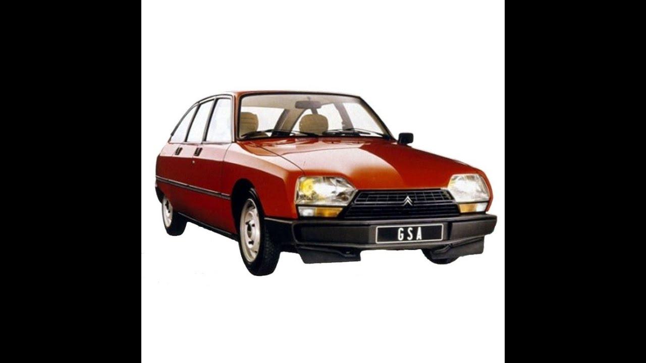 Citroën GSA - Service Manual / Repair Manual - Wiring Diagrams - Spare  Parts Catalog - YouTube   Citroen Gs Wiring Diagram      YouTube