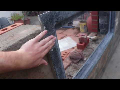 Pond Window Installation with fiberglass frame