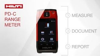 INTRODUCING the Hilti laser range meter PD-C, blending everything you need into one device