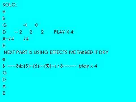 Wasted Time With Guitar Chords Little Bit Tab Youtube