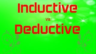 Inductive vs Deductive Research Method | Qualitative Vs Quantitative Method | Types of Research