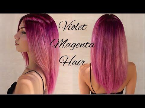 Dyeing my Hair Dark Violet Magenta | Bleeding Effect | Stella