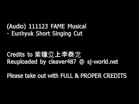 111123 'FAME' Musical - Eunhyuk Short Singin Cut