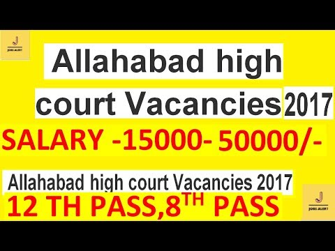 Allahabad high court Vacancies 2017 Recruitment 2017 for Law Clerk (Trainee) Jobs