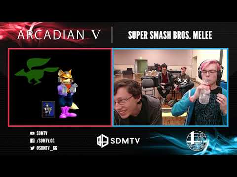Arcadian 5 - Cheesy (Marth) Vs. Streamlord (Fox) - Singles Top 8 Losers Finals - Smash Melee