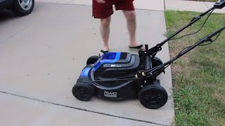 The BEST electric cordless lawn mower: KOBALT 80v Electric Lawn mower