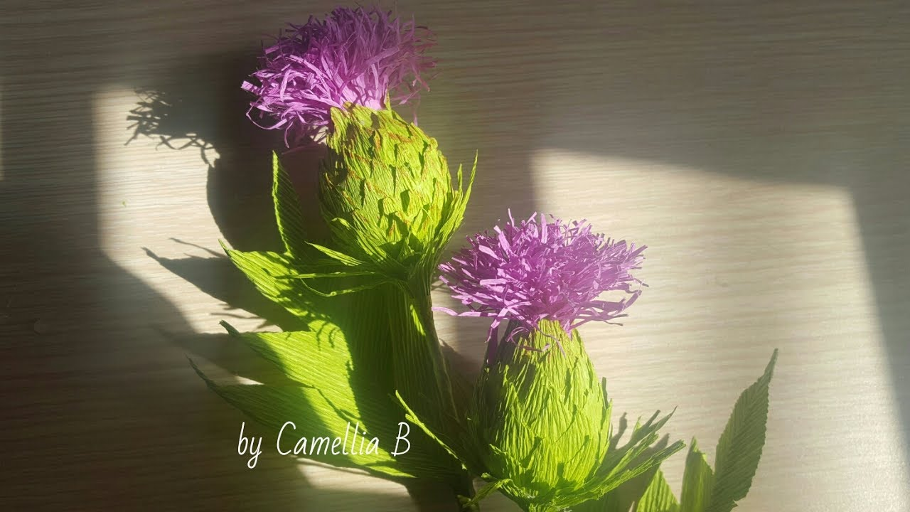 Crepe Paper Flower How To Do Paper Thistle Flowers From Crepe Paper