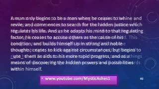 As A Man Thinketh By James Allen Full  Subtitle + Text    YouTube