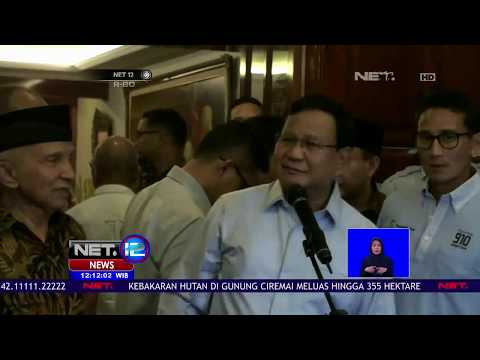 Prabowo Pecat Ratna Sarumpaet Akibat Kebohongan Yang Merugikannya - NET 12
