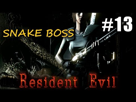 RESIDENT EVIL HD #13 Snake boss 2nd library ★ Remaster pc let