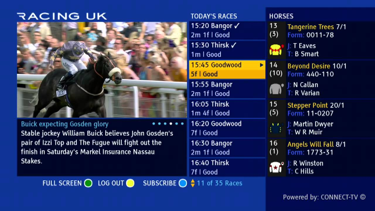 Racing TV on Freeview Channel 231
