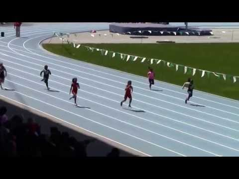 Icahn Stadium 2015 9 & 10 girls 100m kera & Gina