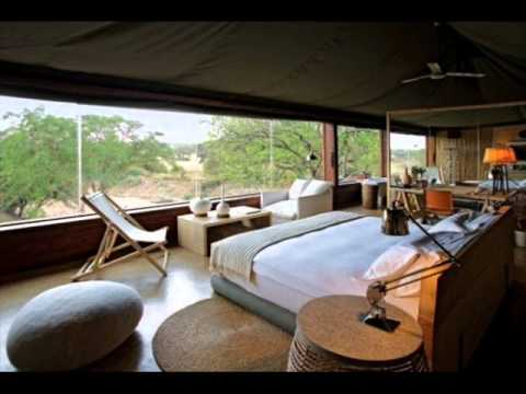Luxury African safari style bedrooms