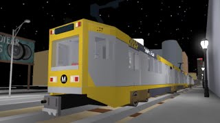 Metro Blue Line Crossing Nippon P865 ROBLOX Car 104, 107