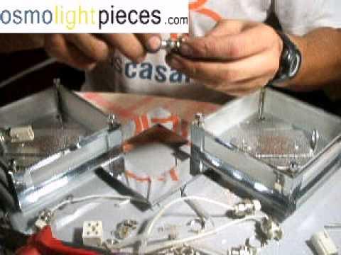 Lampara de pie halogena con dimmer regulador de intensidad for Sustituir bombilla halogena por led