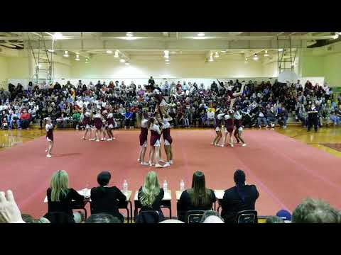 Bailey Bridge Middle School at Chesterfield County Middle School Cheer Competition 2019
