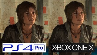 ONE X VS PS4 Pro | Rise of the Tomb Raider | GRAPHICS COMPARISON