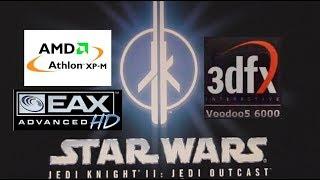 Star Wars Jedi Knight 2: Jedi Outcast (2002) - Gameplay 3dfx Voodoo 5 6000 AGP (2x FSAA)