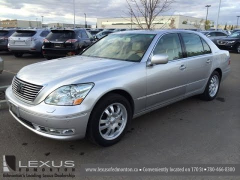 Pre Owned Silver 2006 Lexus LS 430 4dr Sdn Walk Around Review   Sherwood  Park, Alberta, Canada
