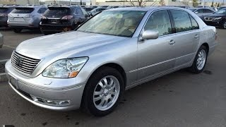Pre Owned Silver 2006 Lexus LS 430 4dr Sdn Walk Around Review - Sherwood Park, Alberta, Canada