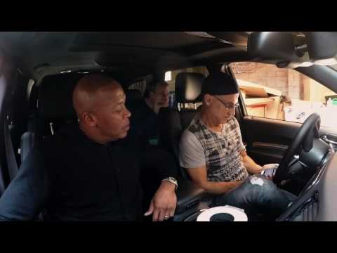 Dr. Dre & Jimmy Iovine testing Beats By Dre speakers in a Chrysler