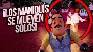 ¡LOS MANIQUÍS SE MUEVEN SOLOS! - HELLO NEIGHBOR (Secreto Oscuro)