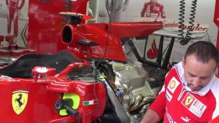 F1 2010 - SPA - Stand Ferrari - Moteur -