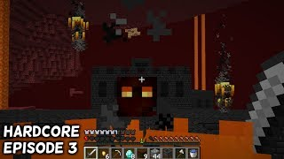 I raided a nether fortress in minecraft hardcore mode