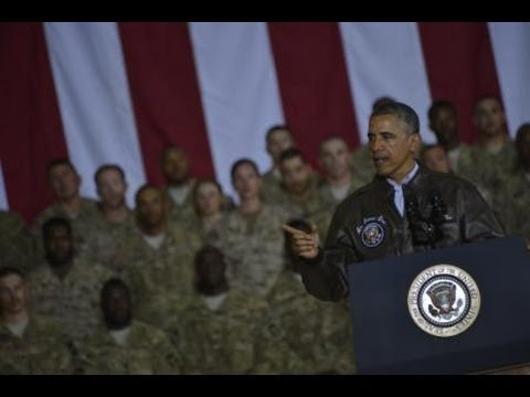 President Obama suprises troops in Afghanistan for Memorial Day