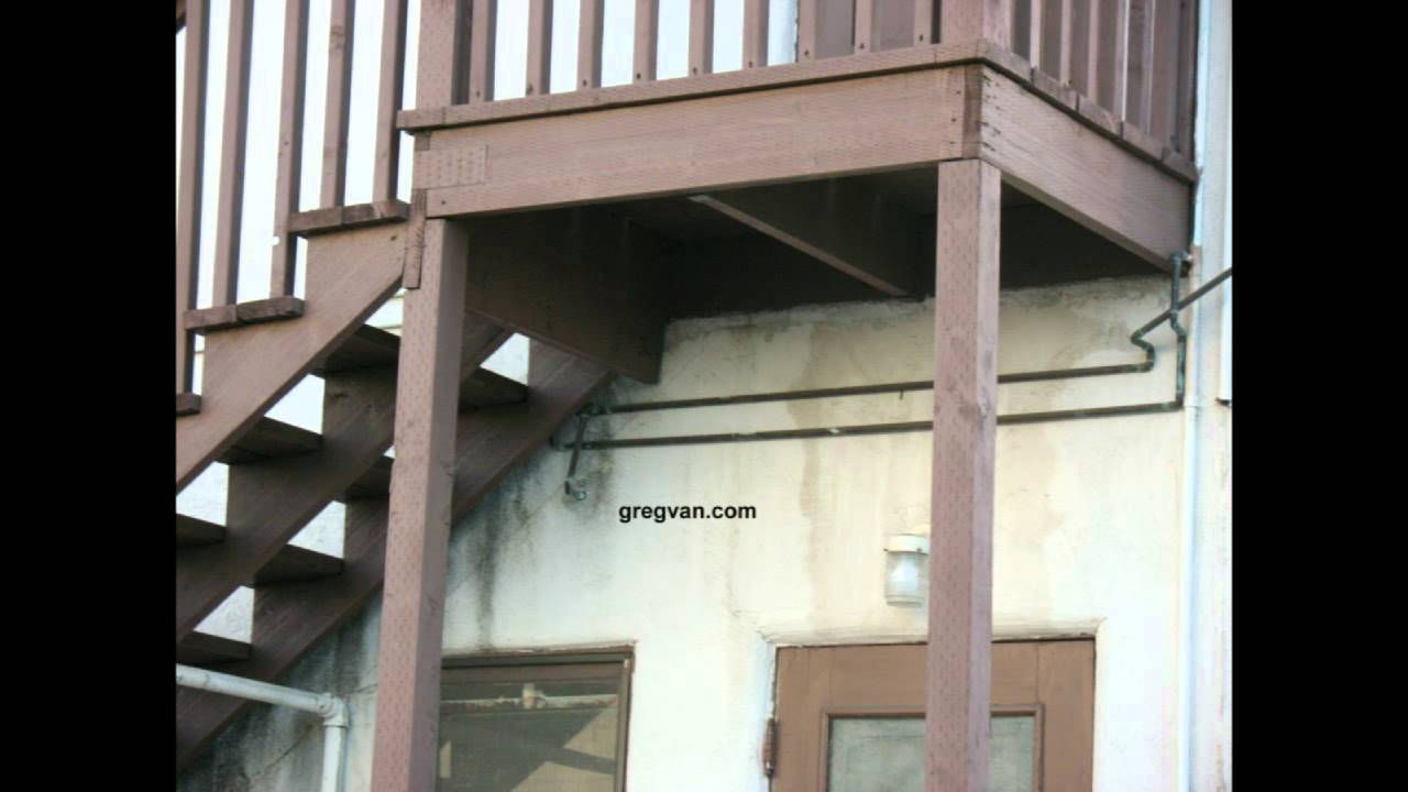 Think Twice Before Using Pressure Treated Lumber For Stairway   Pressure Treated Wood Stairs   L Shaped   Exterior   Timber   45 Degree Stringer   8 Foot