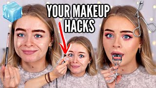 I TESTED *YOUR* MAKEUP HACKS... WOW 😂