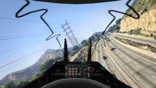 GTA 5 PC - First Person Jet Gameplay ! (MAX SETTINGS)