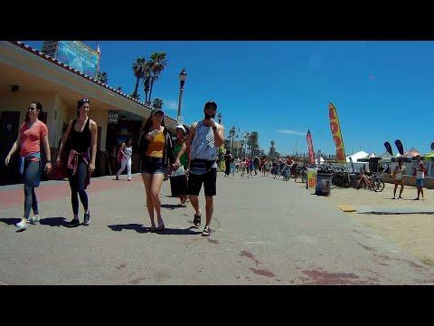 Huntington Beach, Biking Walking Path On Beach, Orange County, California