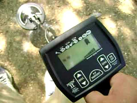 White S Prizm Ii Metal Detector Depth And Id Test With Coins At 6 Inches Deep