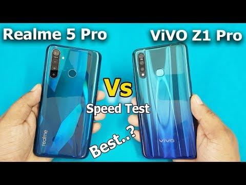 Realme 5 Pro vs ViVO Z1 Pro Speed Test Comparison