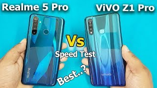 Realme 5 Pro vs ViVO Z1 Pro Speed Test / Comparison || Antutu Beachmark Scores || Rs.13999 vs 14990