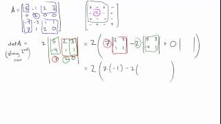 how to solve 4x4 matrix determinant
